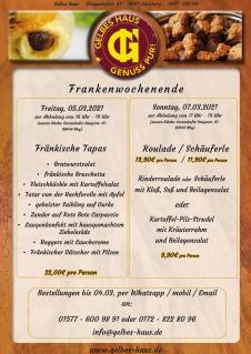 Franken-We mit fränkischen Tapas Roulade Schäuferle